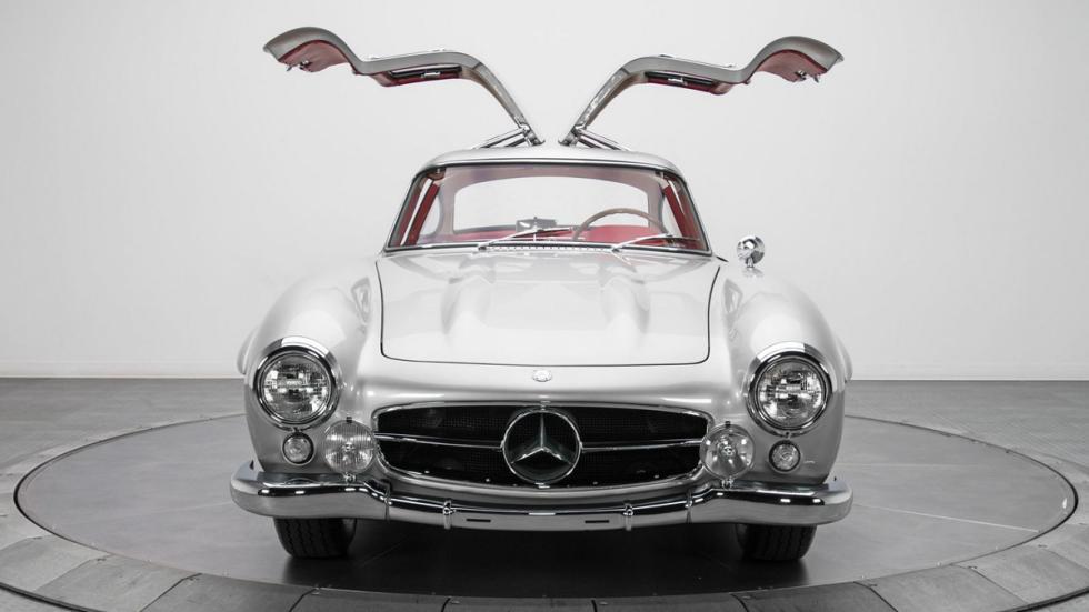 Mercedes 300 SL plata frontal puertas