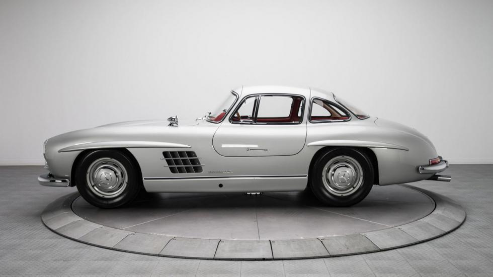 Mercedes 300 SL plata lateral