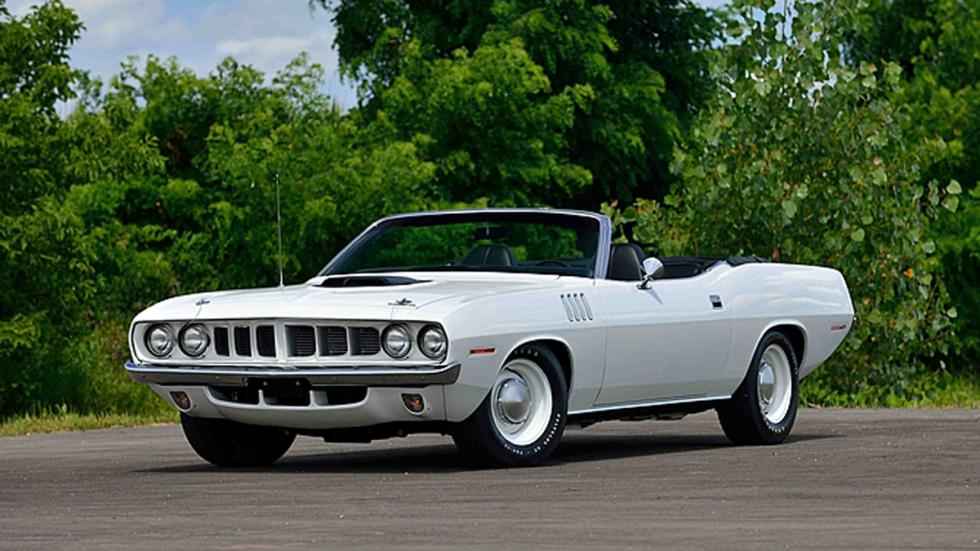 plymouth hemi cuda convertible sno-white
