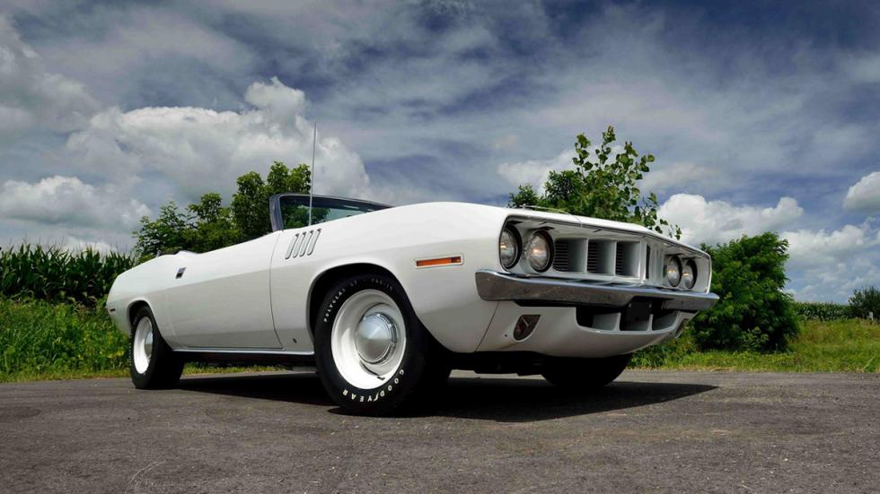 plymouth hemi cuda convertible blanco