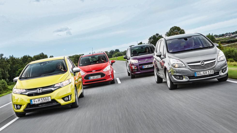 Citroen-C3-Picasso-Ford-B-Max-Honda-Jazz-Opel-Meriva-frontales