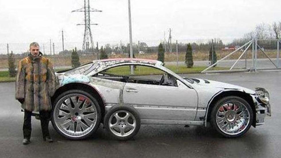 Atrocidades coches llantazas mercedes