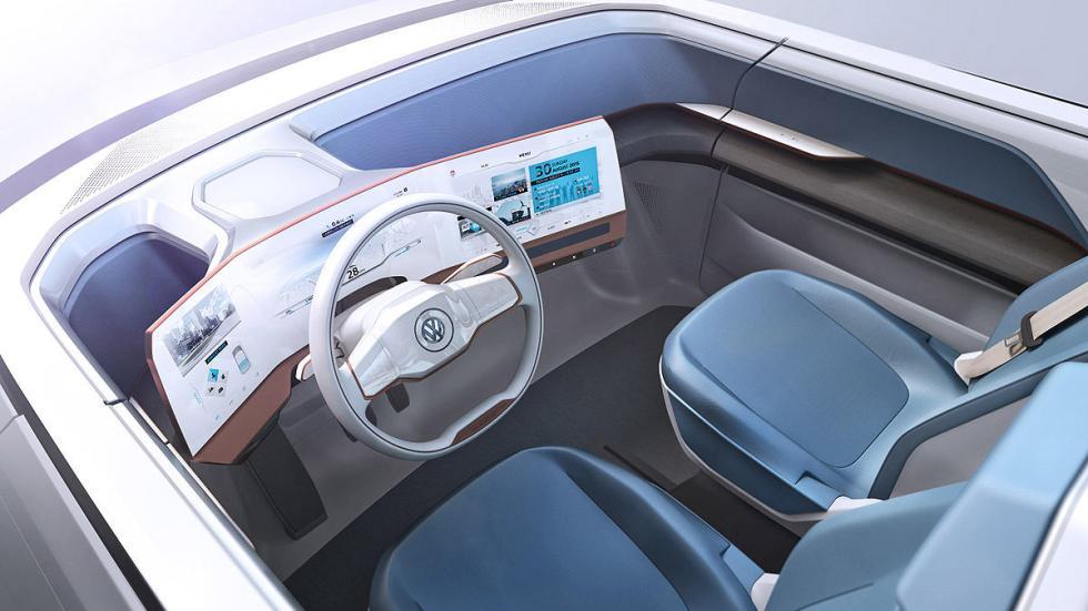 Volkswagen Budd-e interior detalle