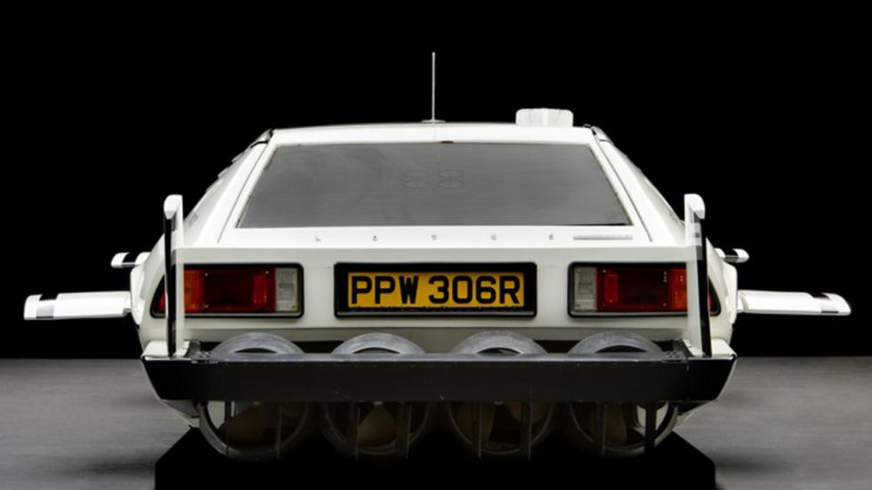 Hélices y parte trasera del Lotus Esprit de James Bond