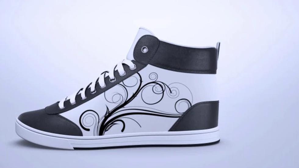diseño básico pero elegante para las zapatillas personalizables