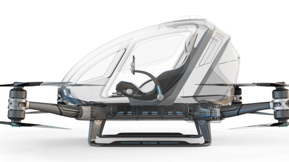 primer dron tripulado presentado en el CES 2016