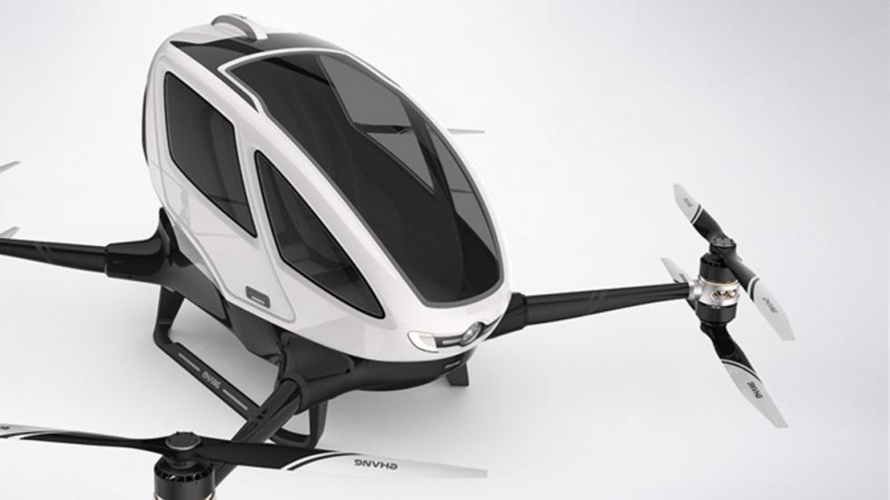 primer dron tripulado del mundo en funcionamiento