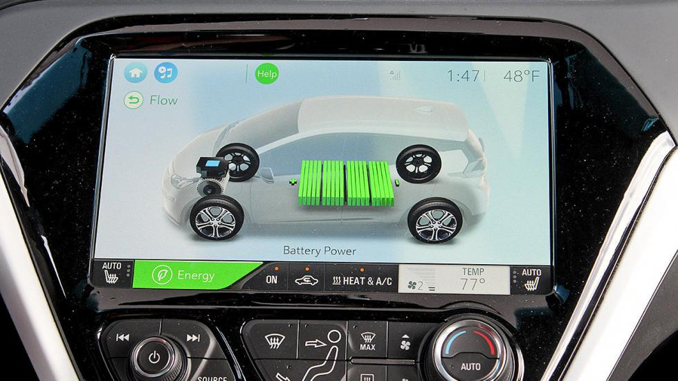 Primera prueba: Chevrolet Bolt EV eléctrico detalle pantalla