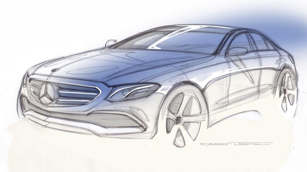Boceto Mercedes Clase E 2016