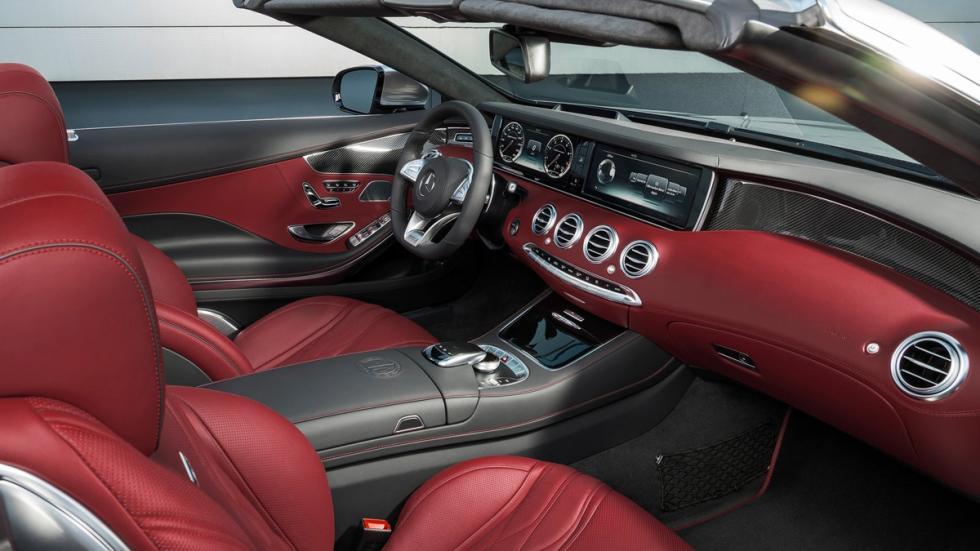 Mercedes S63 AMG Cabriolet Edition 130 interior rojo