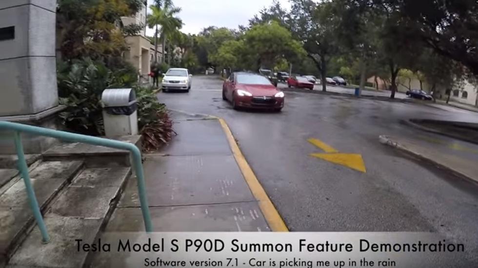 tesla sistema aparcamiento remoto