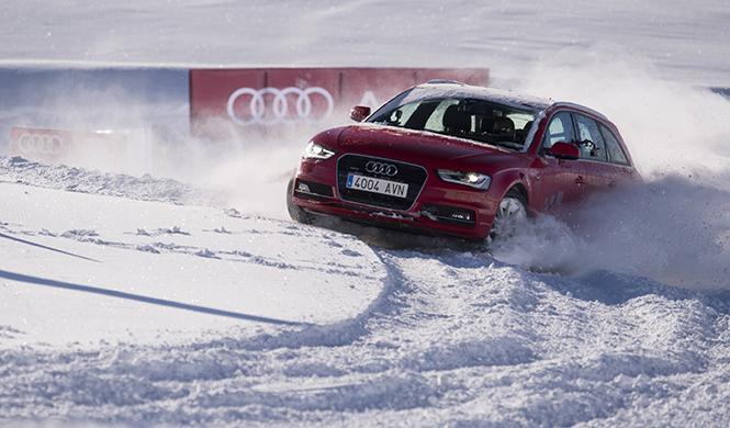 curso conducción en la nieve Audi 2016 2