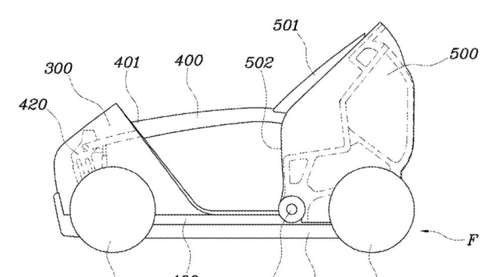 Patentes coche plegable de Hyundai