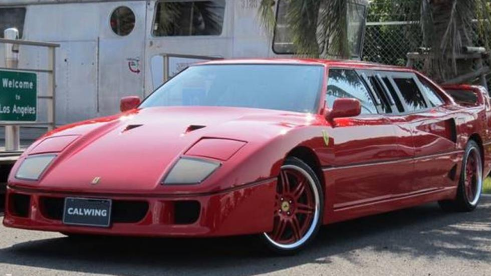 Ferrari F40 limusina tres cuartos delanteros