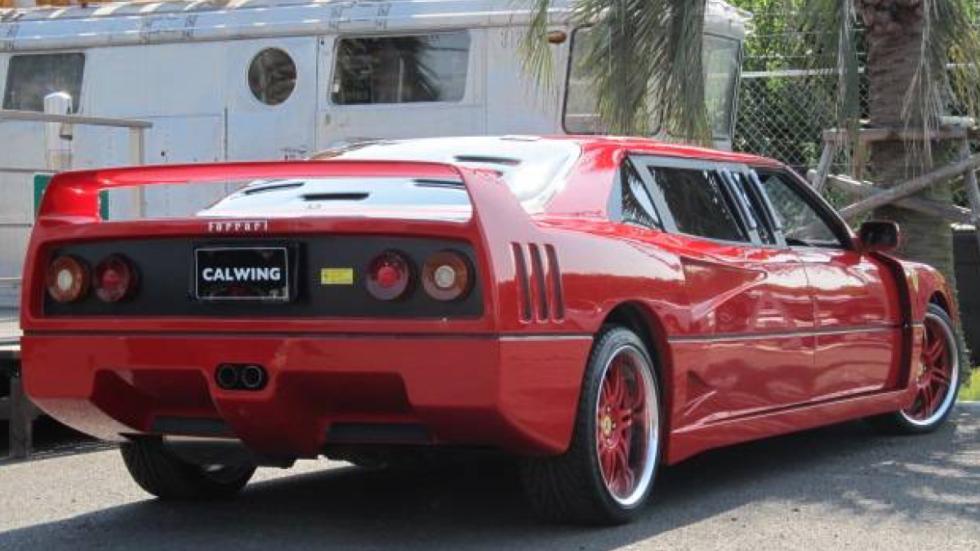 Ferrari F40 limusina tres cuartos traseros