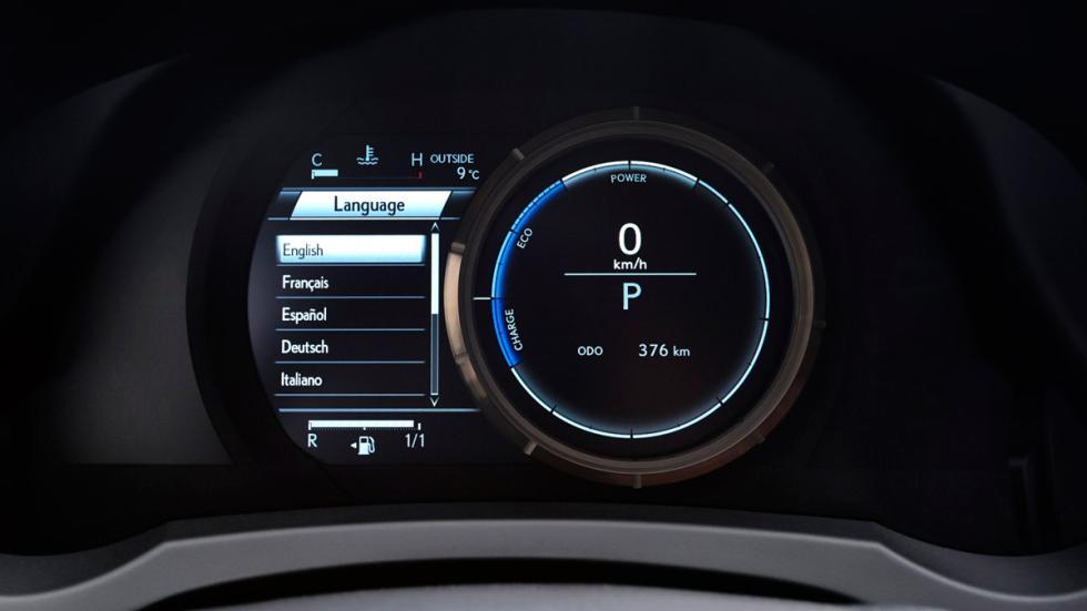 Lexus RC 300h, instrumentación