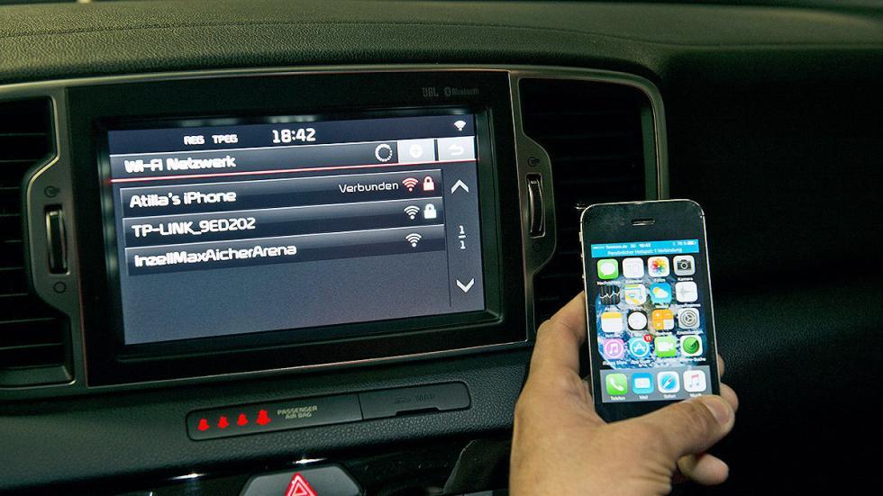 Prueba: Kia Sportage 2016 smartphone