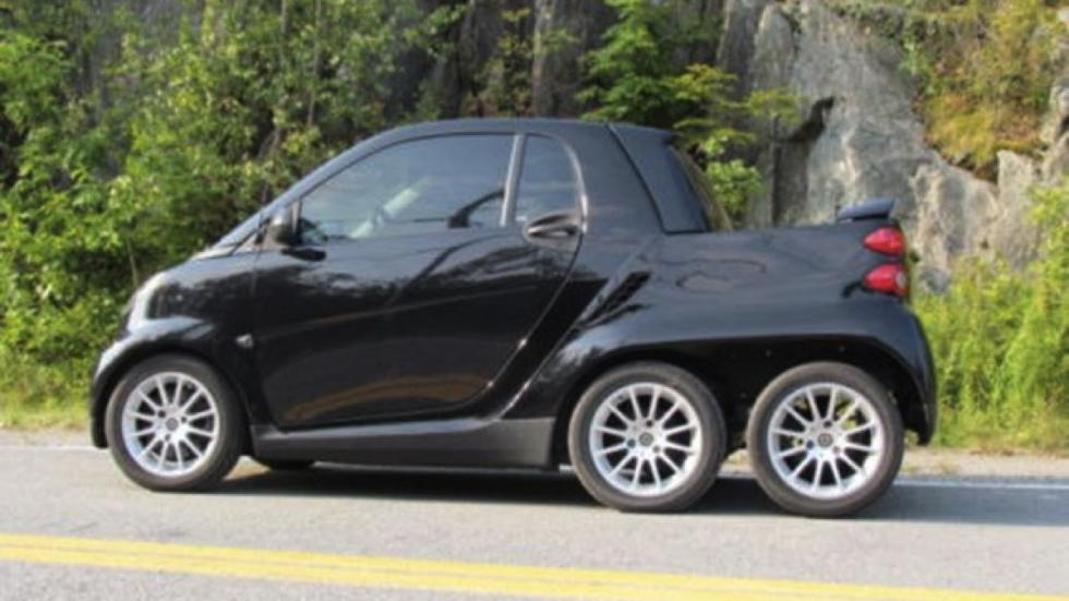 Smart Fortwo pick-up 6x6 lateral