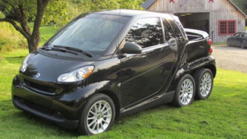 Smart Fortwo pick-up 6x6 frontal