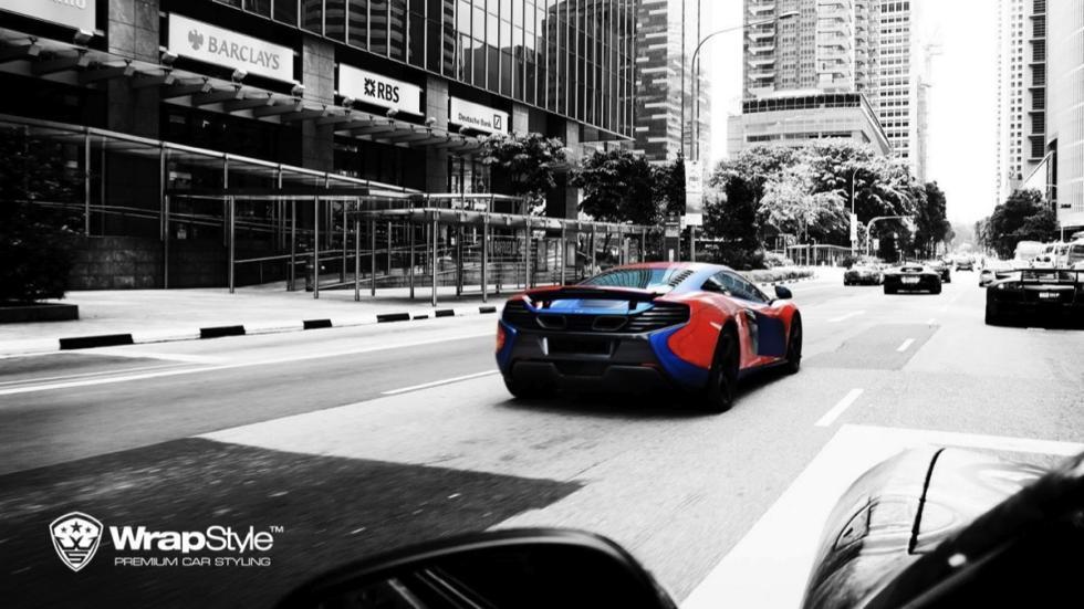 McLaren 650 S Spiderman trasera