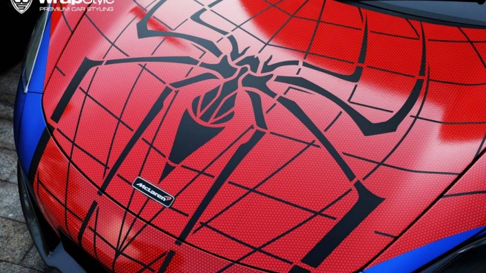 McLaren 650S Spiderman logo
