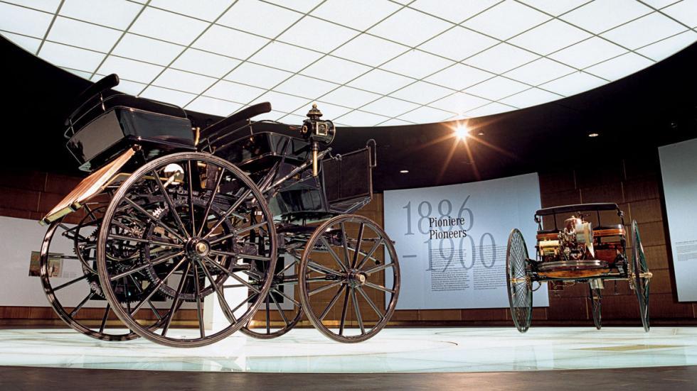 dos patent car que tiene Mercedes en su museo