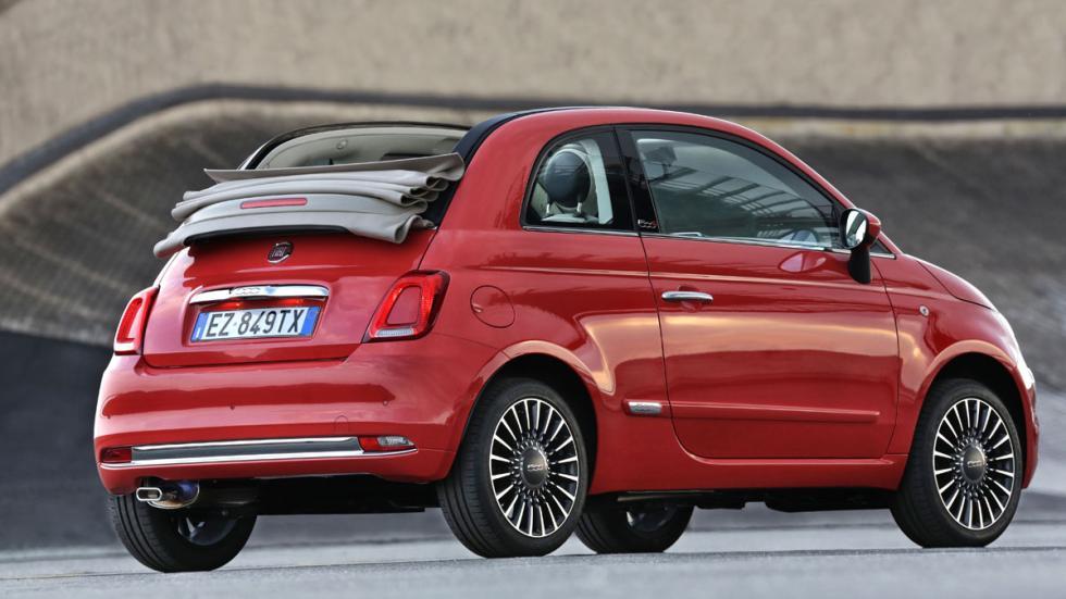 Fiat 500 2016 tres cuartos trasero