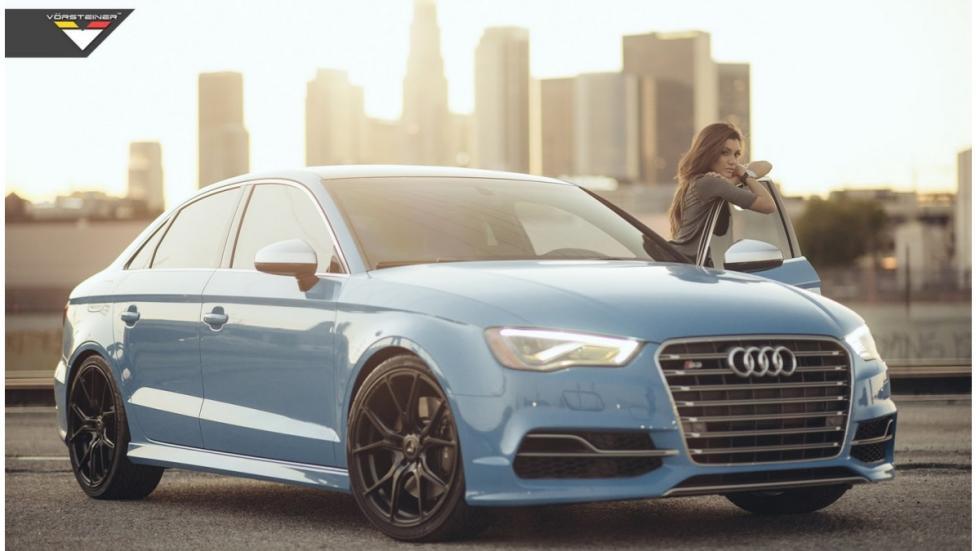 Audi S3 Riviera Blue Vorsteiner frontal