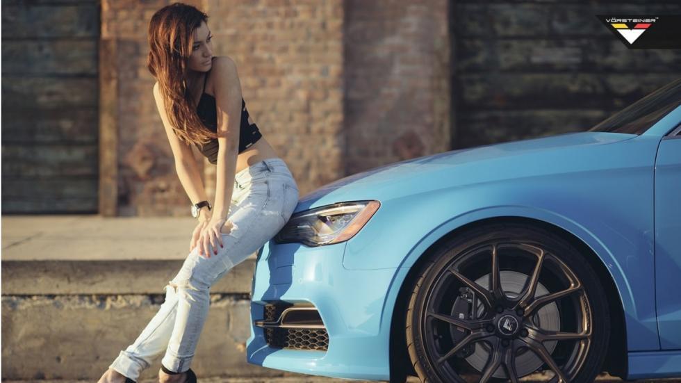 Audi S3 Riviera Blue Vorsteiner rueda
