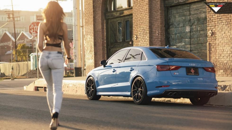 Audi S3 Riviera Blue Vorsteiner trasera