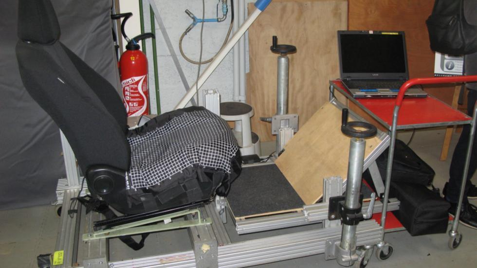medidor de presión de los asientos