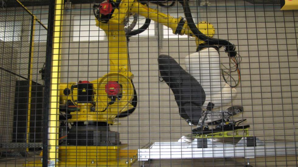 robot en prueba de asientos