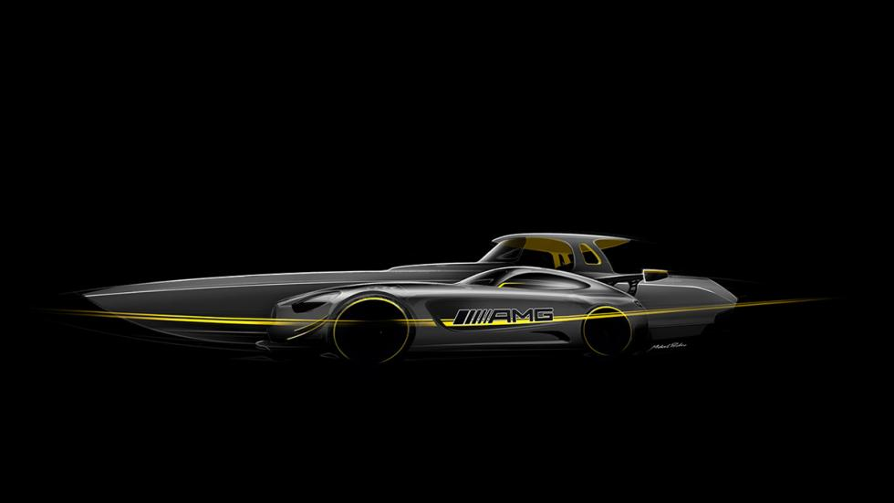 primera imagen barco cigarette racing inspirado mercedes-amg gt3