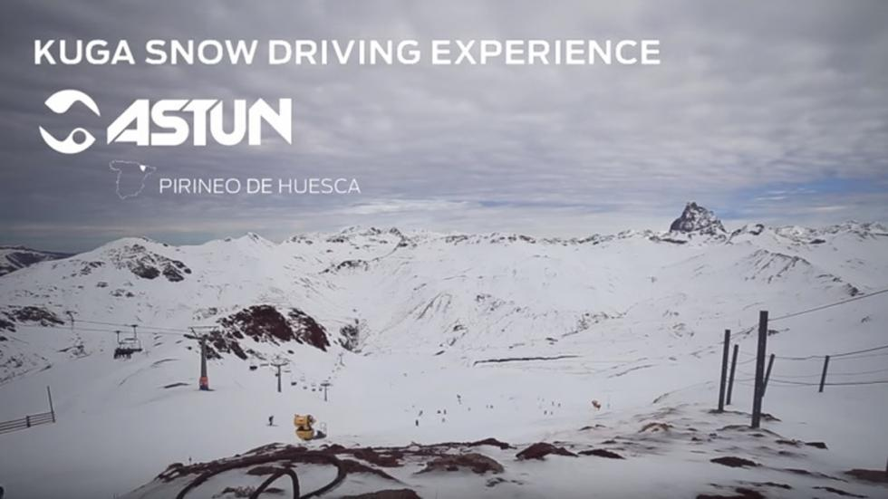 astun cursos conduccion kuga snow driving experience ford
