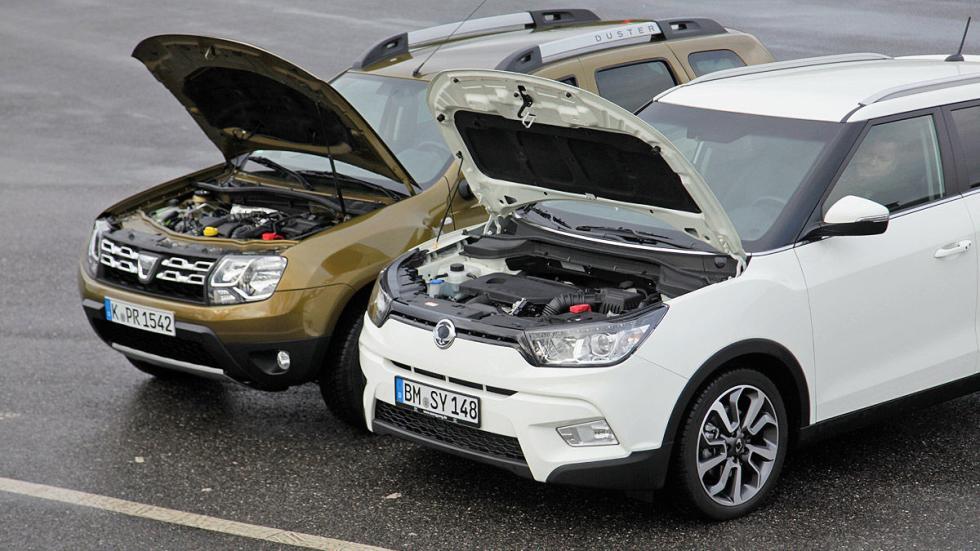 Cara a cara: Dacia Duster vs SsangYong Tivoli capós