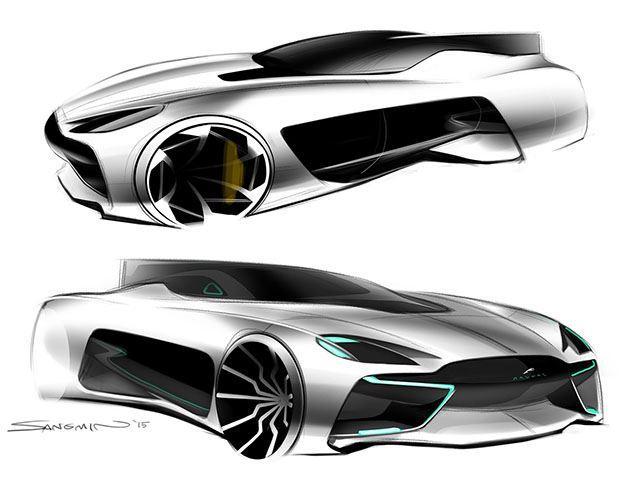 Boceto del futuro Jaguar 2