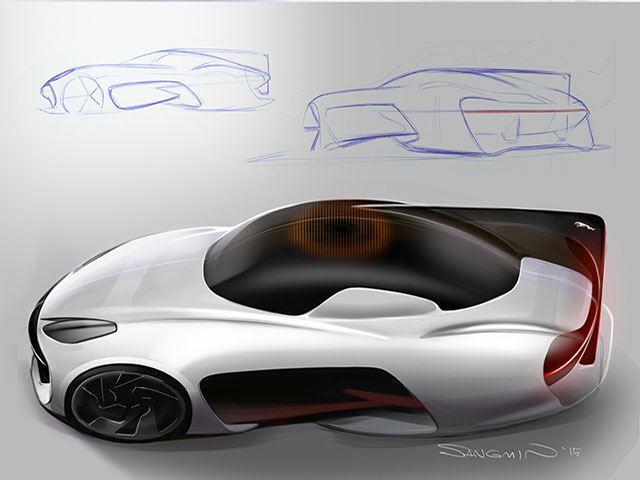 Boceto del futuro Jaguar aérea