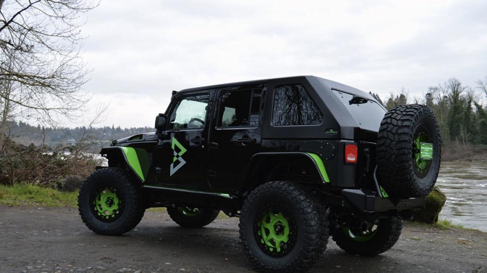 Jeep Wrangler 'Beast Mode' tres cuartos traseros