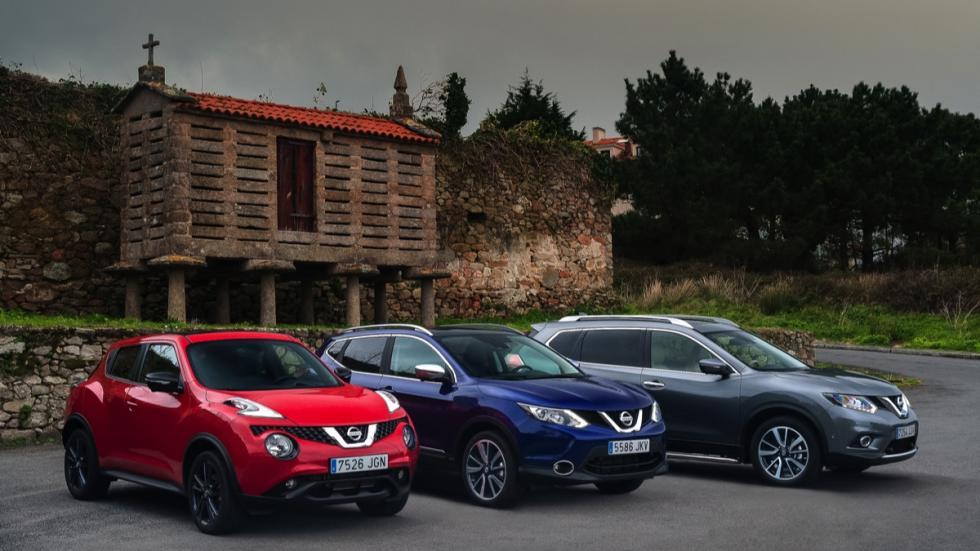 Nissan Juke, X-Trail, Qashqai estática