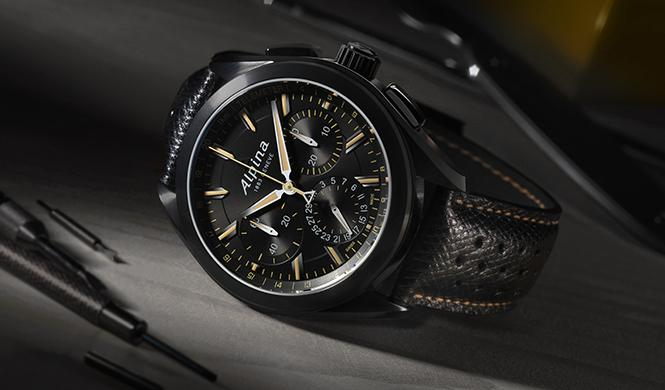 Alpina 'Full Black' Alpiner 4 Manufacture Flyback Chronograph
