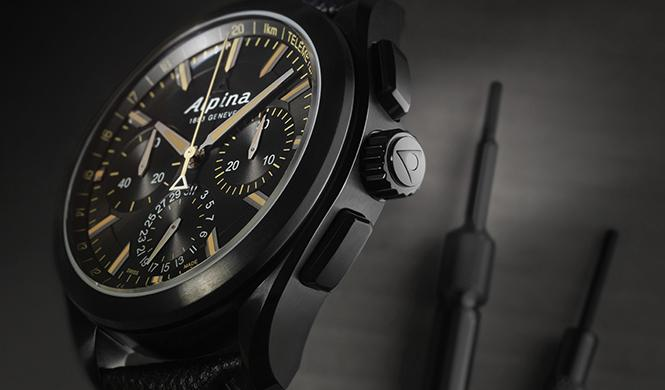 Alpina 'Full Black' Alpiner 4 Manufacture Flyback Chronograph 2