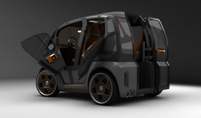 Espejo Provocador el coche inteligente ciudades del futuro 3
