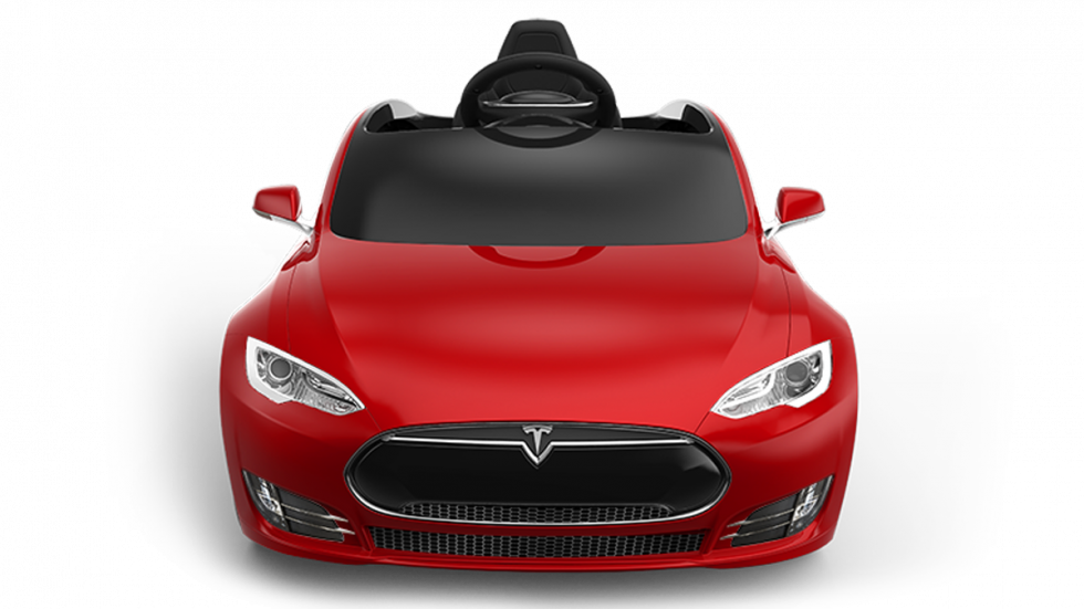 frontal tesla model s radio flyer