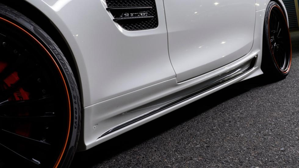 Mercedes AMG GT Black Bison Edition, estriberas