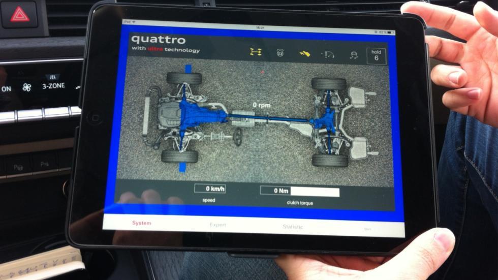 A4 quattro Ultra está funcionando con cuatro ruedas motrices