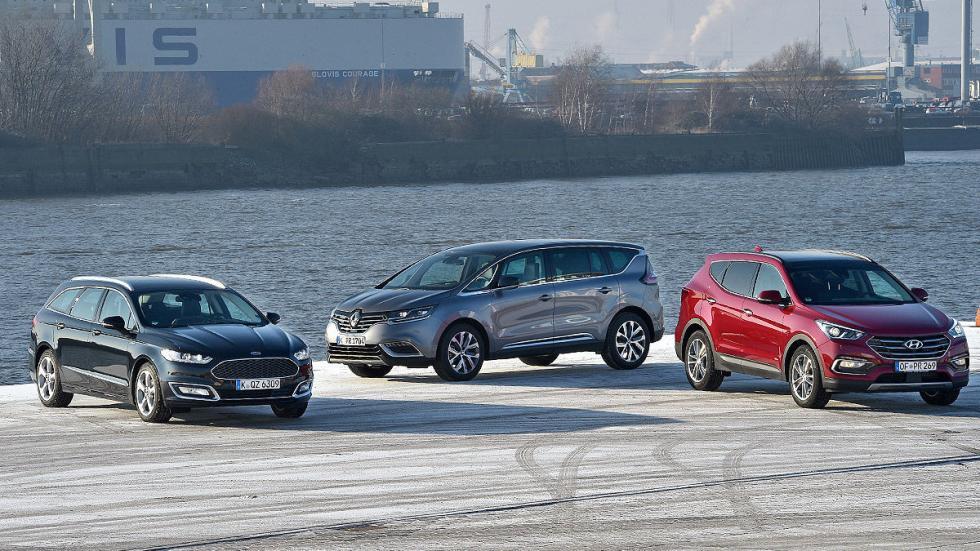 Comparativa: Ford Mondeo/Hyundai Santa Fe/ Renault Espace