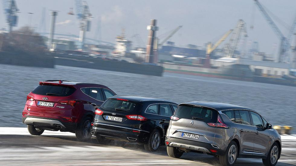 Comparativa: Ford Mondeo/Hyundai Santa Fe/ Renault Espace zagas