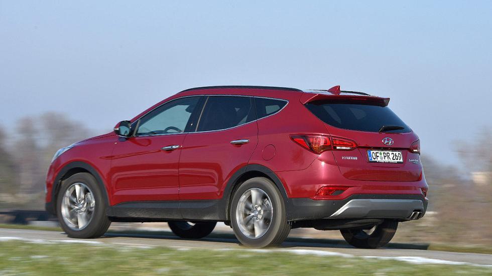 Hyundai Santa Fe lateral zaga 3 cuartos