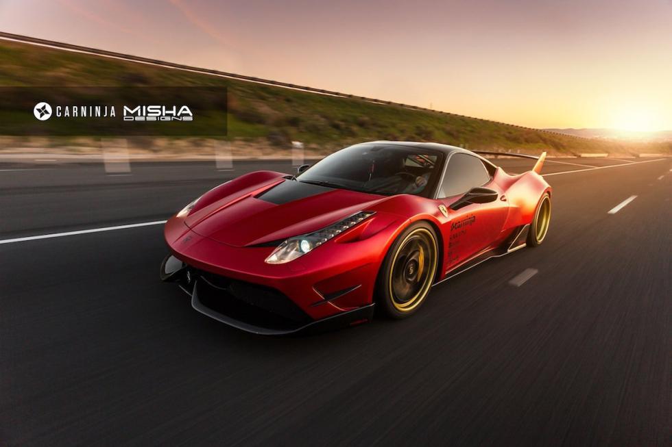 Ferrari 458 Italia by Misha Designs tres cuartos delantero