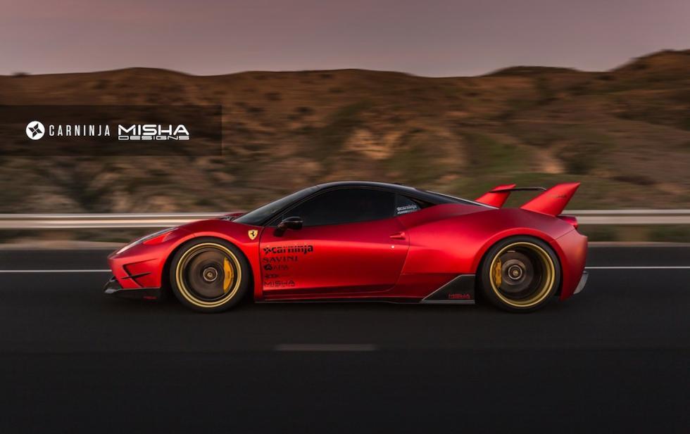 Ferrari 458 Italia by Misha Designs lateral